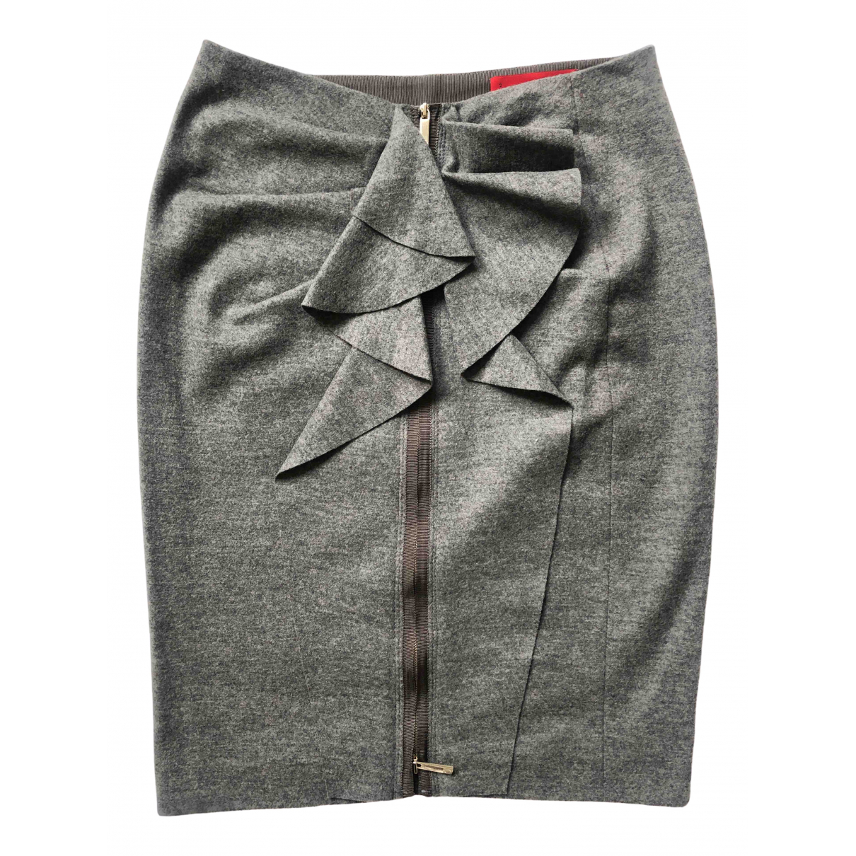 Carolina Herrera N Grey Wool skirt for Women 8 UK