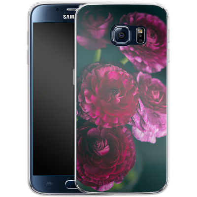 Samsung Galaxy S6 Silikon Handyhuelle - Purple Ranunculus 2 von Joy StClaire
