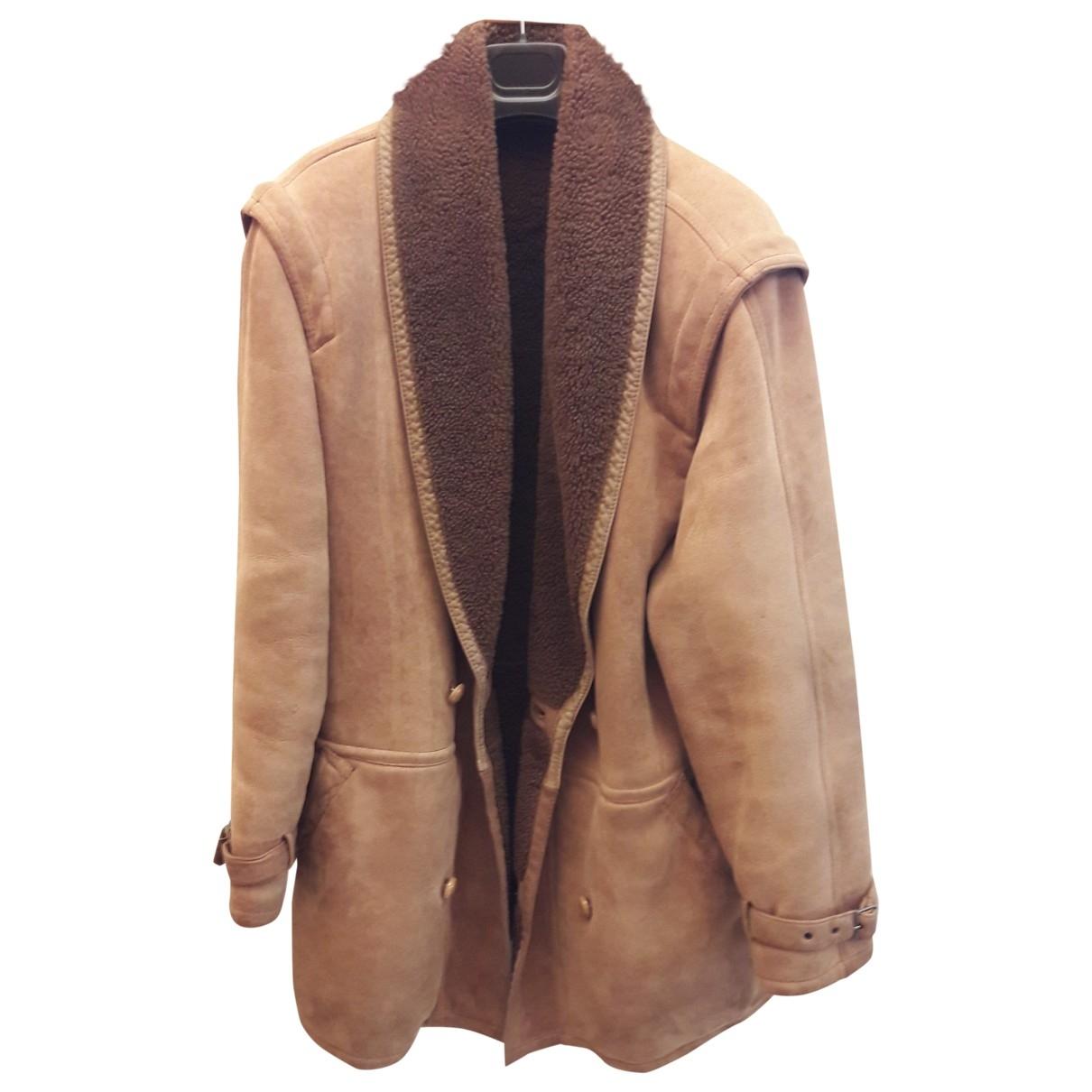 Valentino Garavani \N Beige Shearling coat  for Men 52 IT