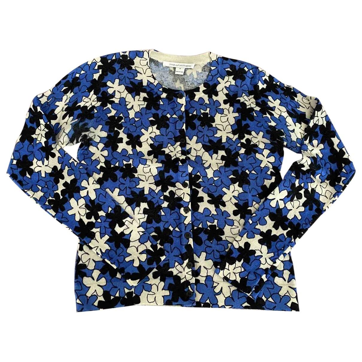 Diane Von Furstenberg - Veste   pour femme en laine - bleu