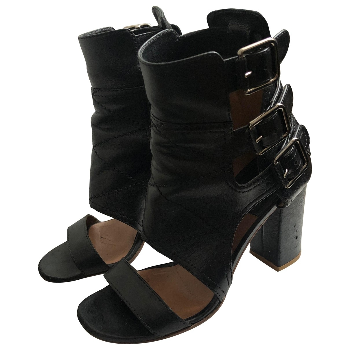 Laurence Dacade \N Black Leather Sandals for Women 36.5 EU
