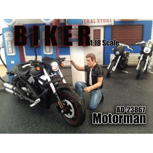 Biker Motorman Figure For 118 Scale Models by American Diorama