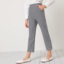 Girls Slant Pocket Houndstooth Pants