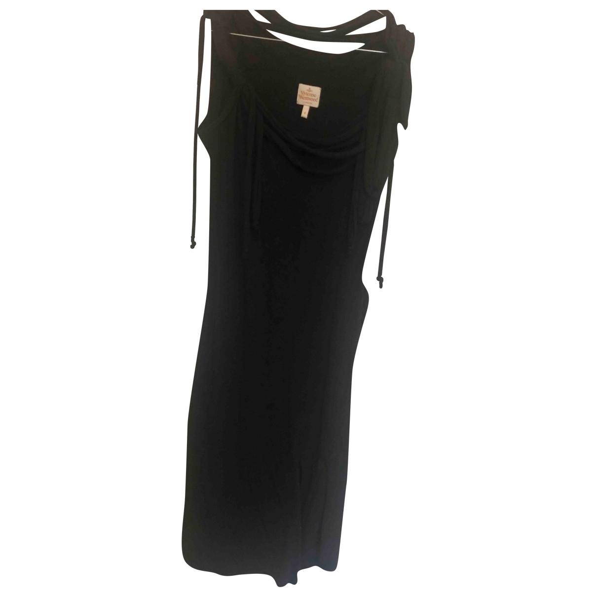 Vivienne Westwood \N Kleid in  Schwarz Baumwolle