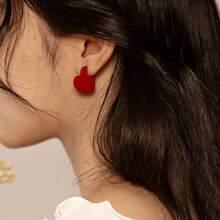 1pair Heart Shaped Hoop Earrings