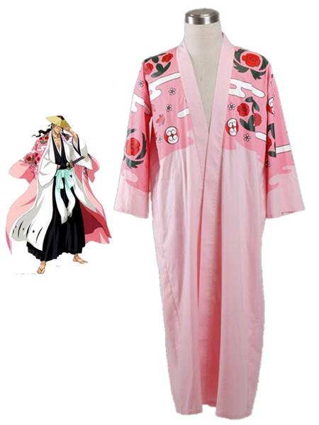 Milanoo Halloween Bleach Kyoraku Shunsui Halloween Kimono Cosplay Disfraz