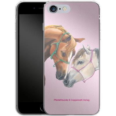 Apple iPhone 6 Plus Silikon Handyhuelle - Pferdefreunde Freundschaft von Pferdefreunde