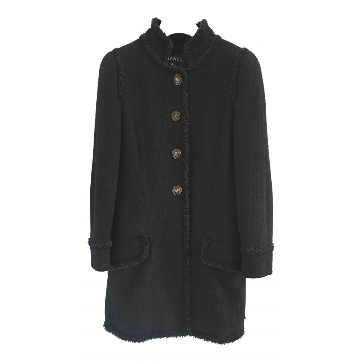 Chanel - Manteau   pour femme en tweed - marine