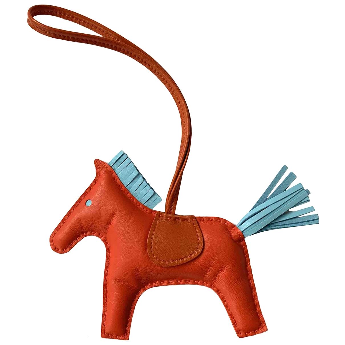 Hermes Rodeo Taschenschmuck in  Bunt Leder