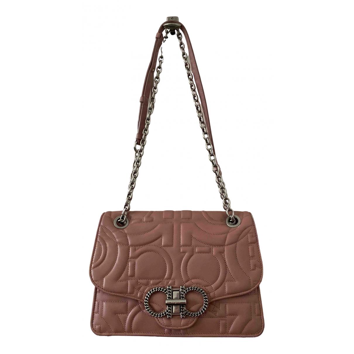 Salvatore Ferragamo \N Handtasche in  Rosa Leder