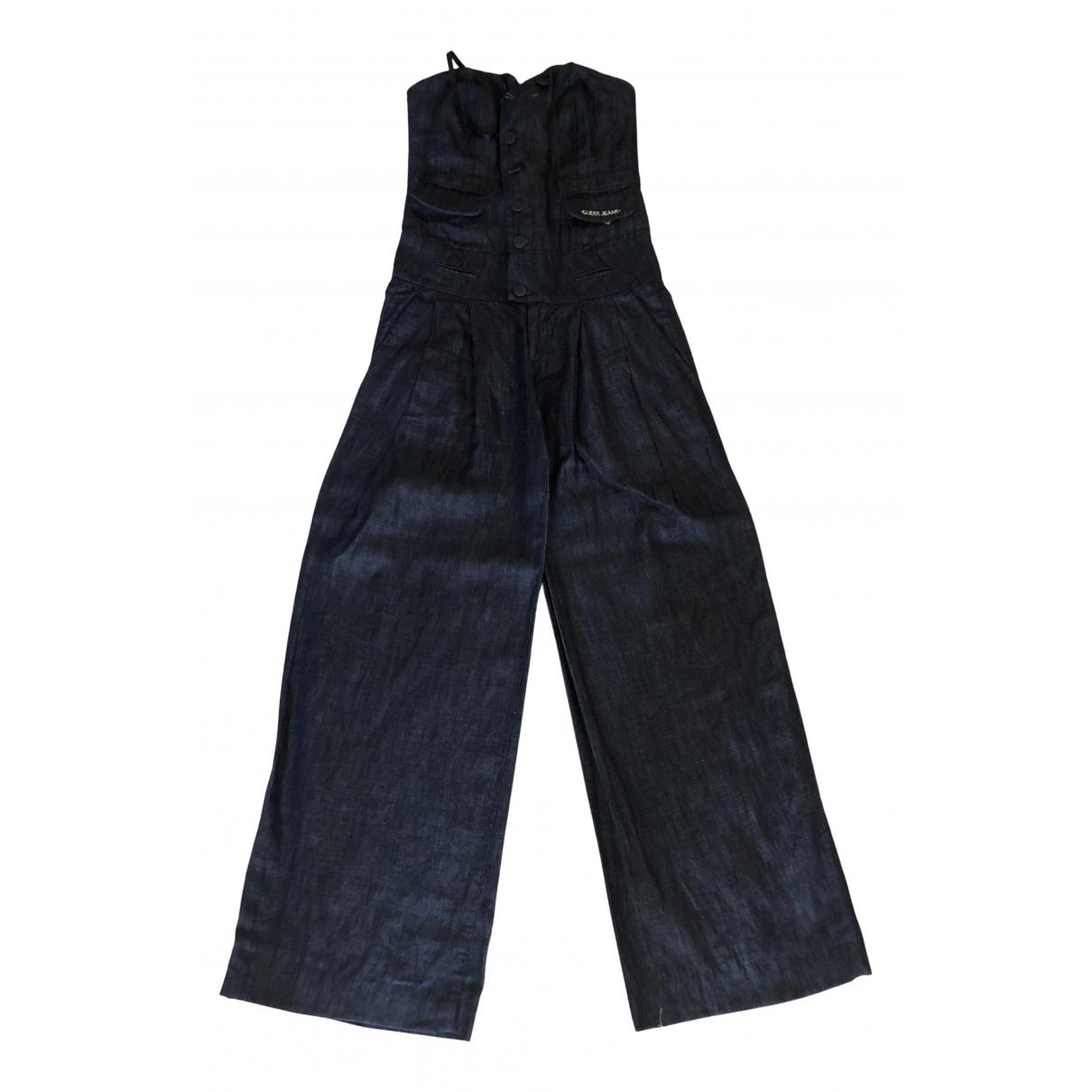 Guess - Combinaison   pour femme en coton - bleu