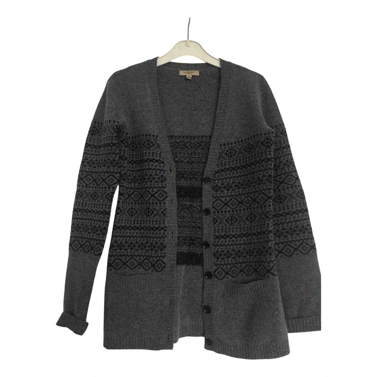 Burberry - Pull   pour femme en laine - gris
