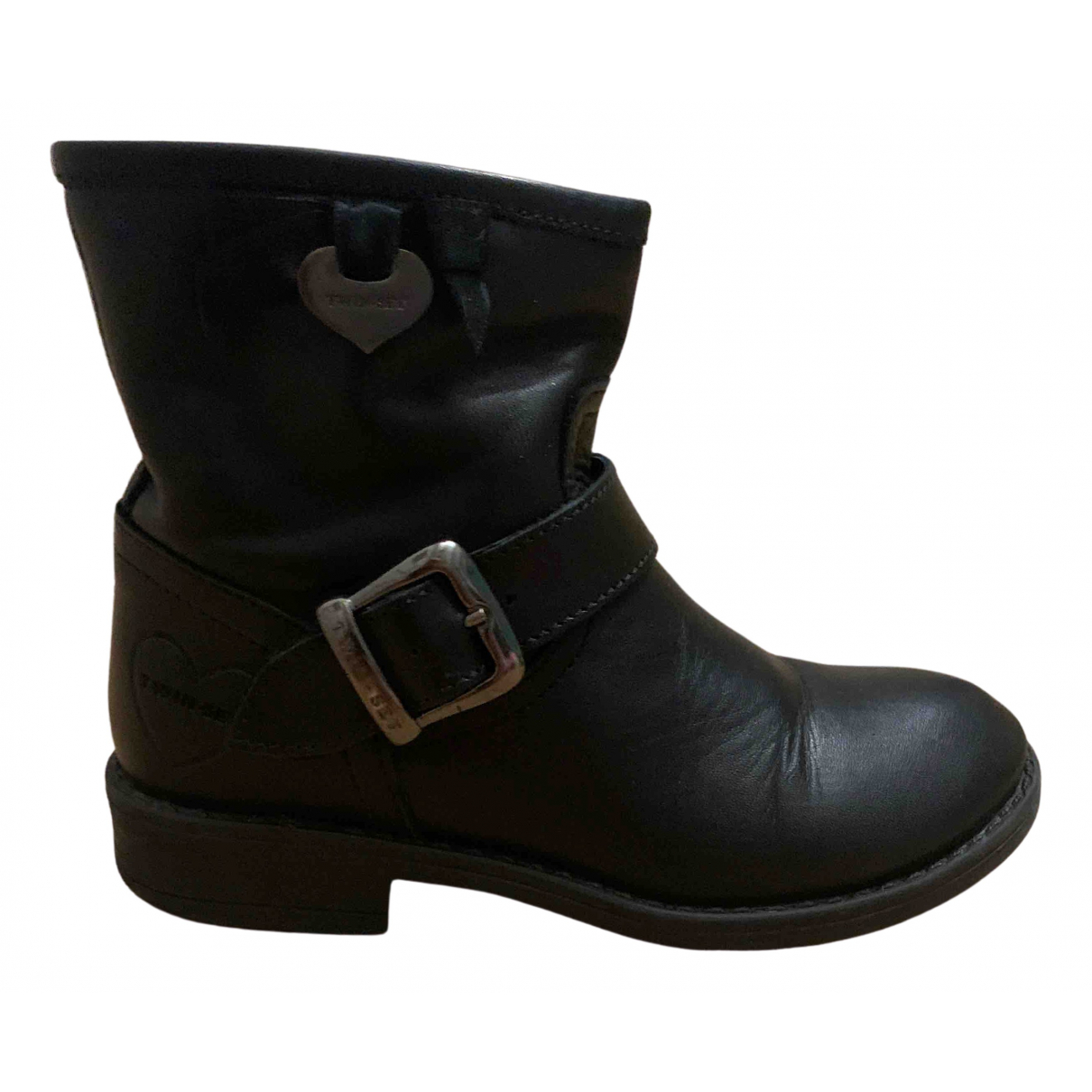 Twin Set \N Black Leather Boots for Kids 28 FR