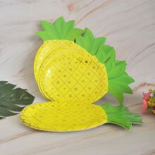 8pcs Pineapple Shaped Disposable Plate