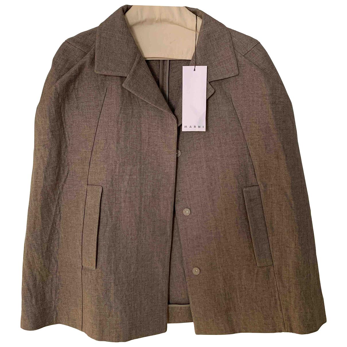 Marni N Brown Linen jacket for Women 40 IT