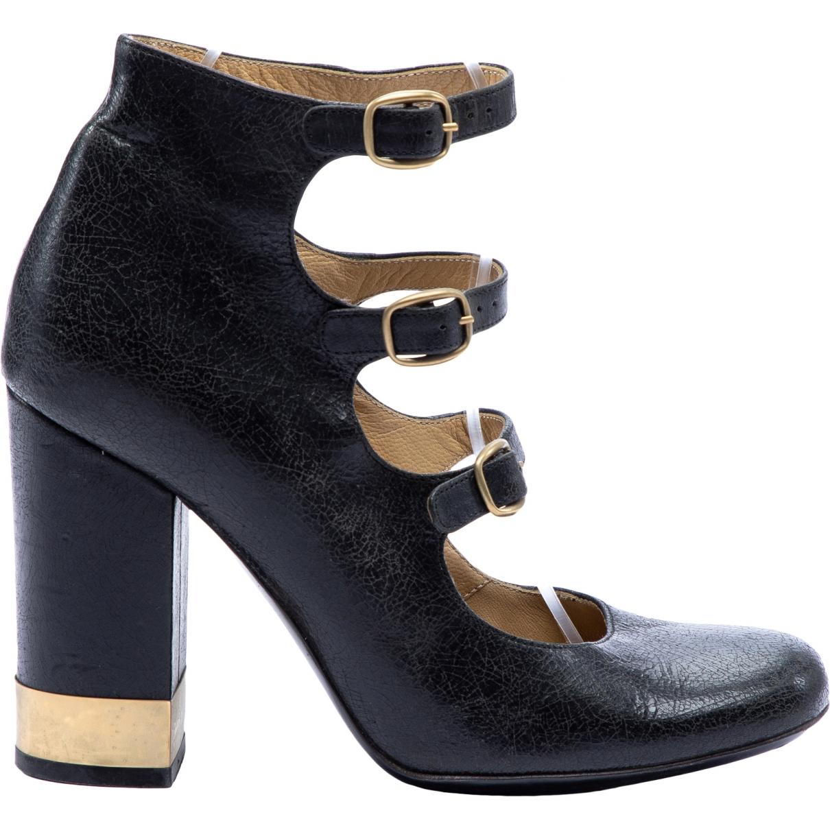 Chloé \N Black Leather Heels for Women 36 EU