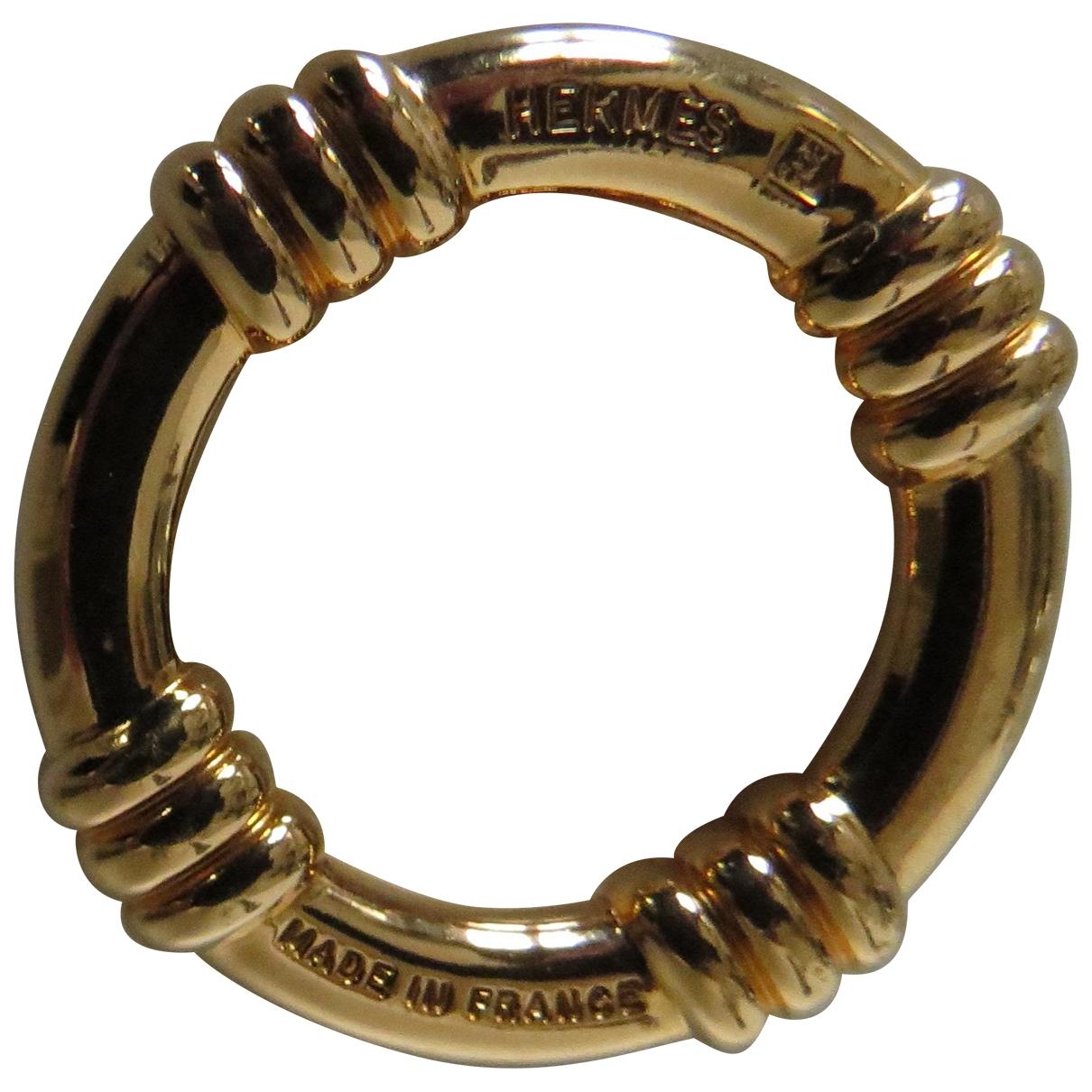 Hermes \N Brosche in  Gold Metall