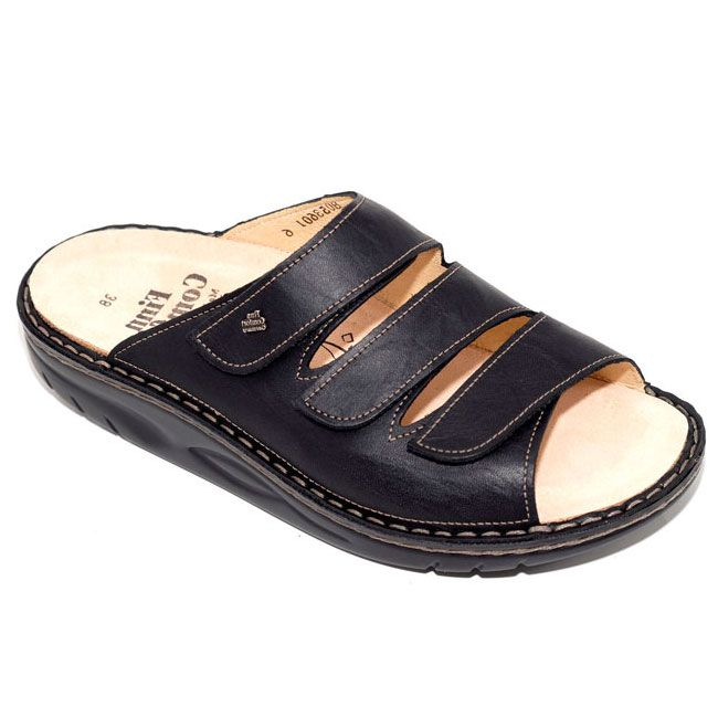 Finn Comfort Andros Black Leather Soft Footbed 42