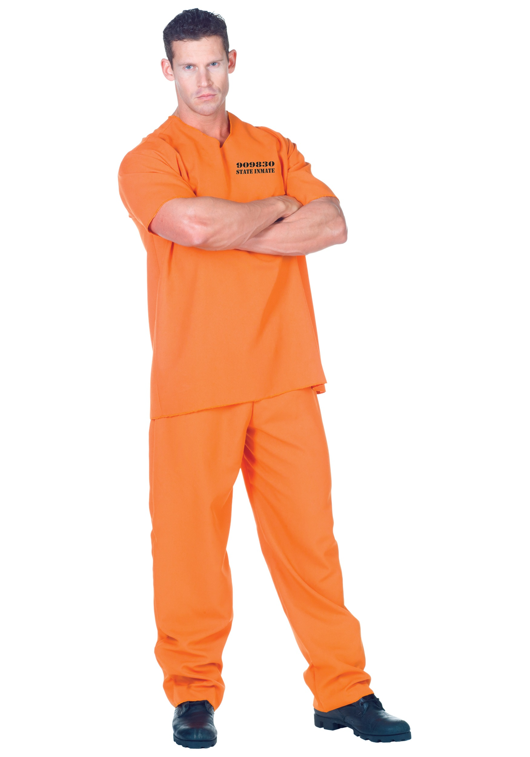 Public Offender Inmate Costume for Men