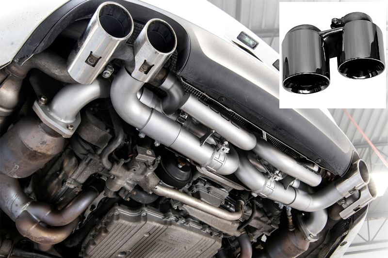 Soul Performance Valved Performance Exhaust System with PSE Valve Controller Black Chrome Tips Porsche 911 Carrera 12-15
