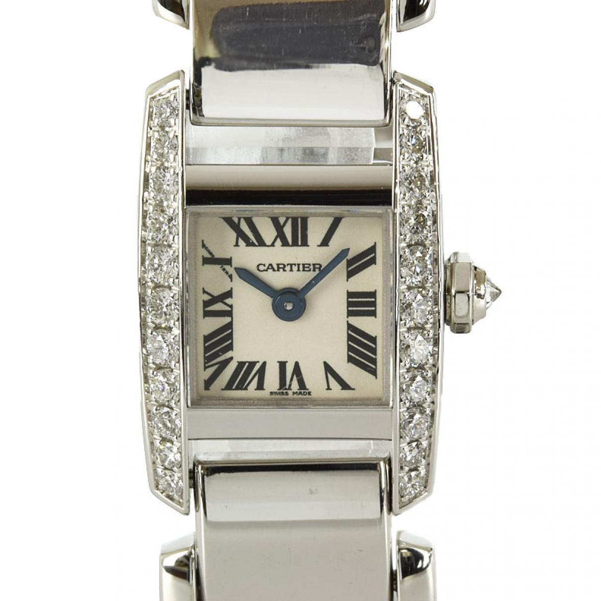 Cartier \N Uhr in  Weiss Weissgold