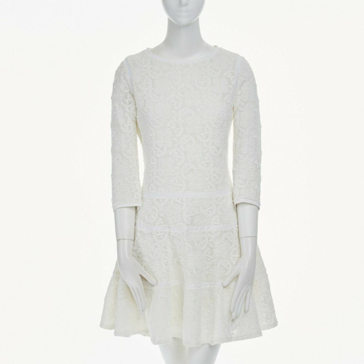 Sacai \N Kleid in  Weiss Baumwolle