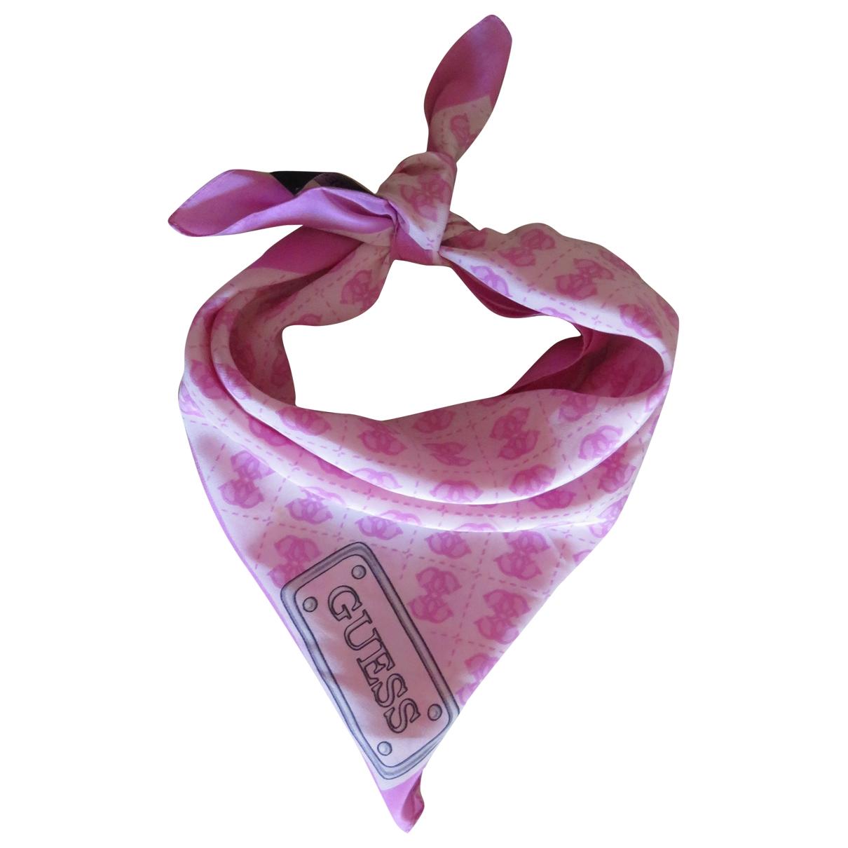 Guess - Foulard   pour femme en soie - rose
