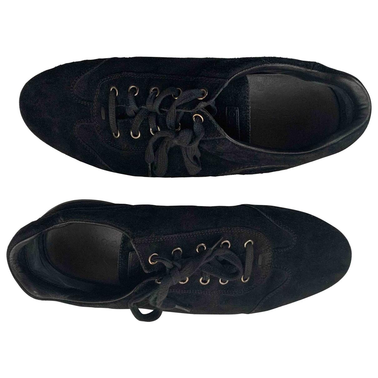 Gucci - Baskets   pour homme en suede - noir