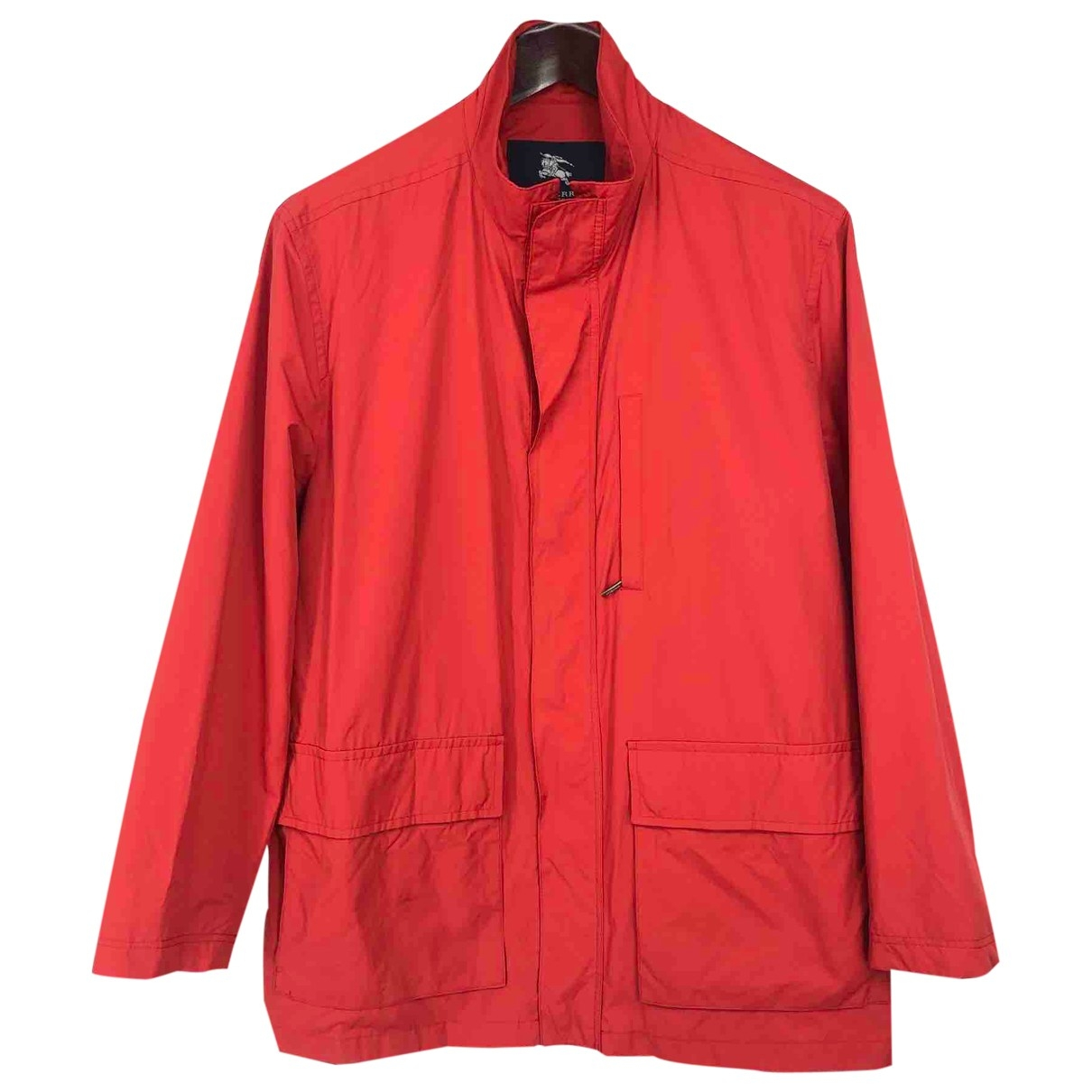 Burberry \N Red Cotton jacket  for Men L International