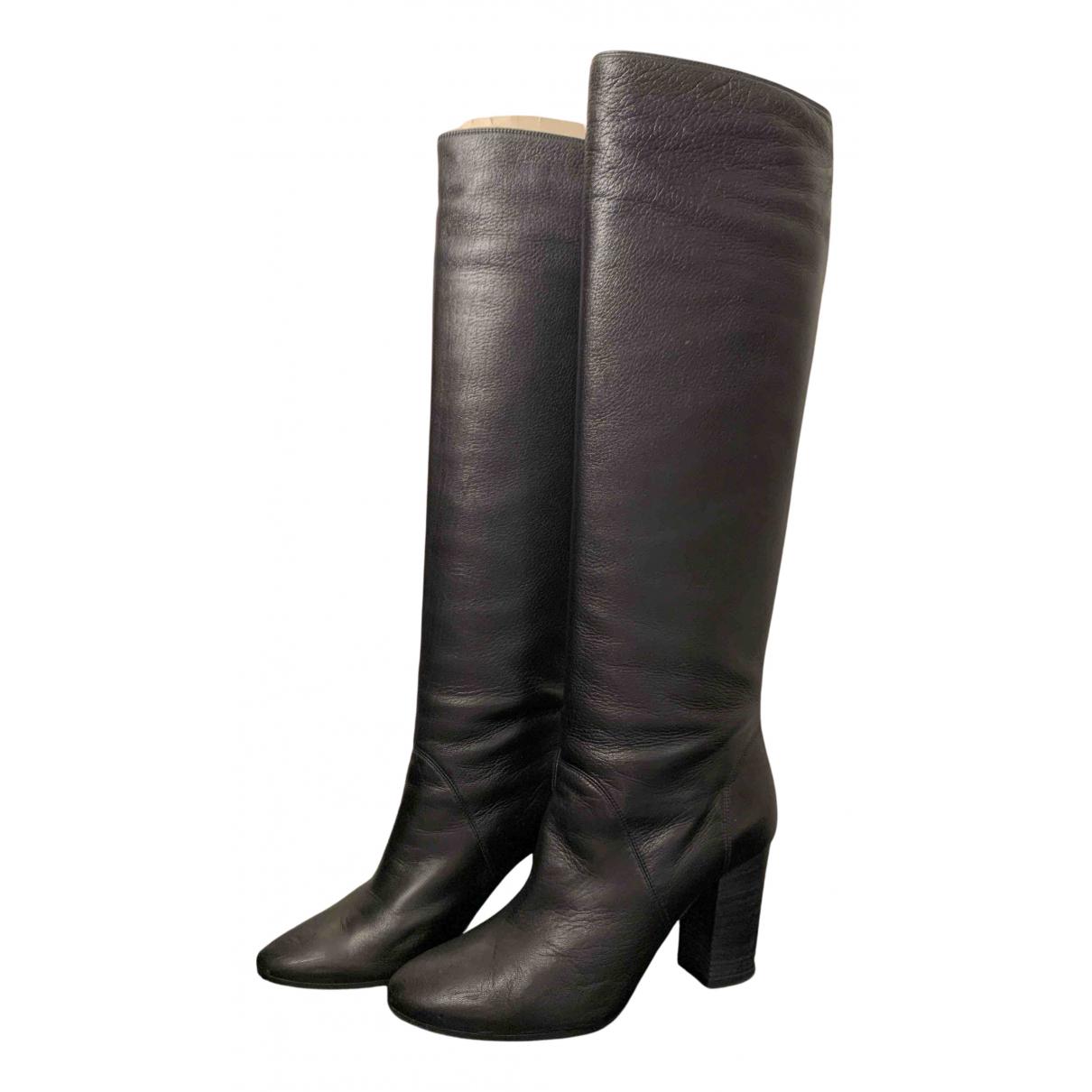 Lanvin \N Stiefel in  Schwarz Leder