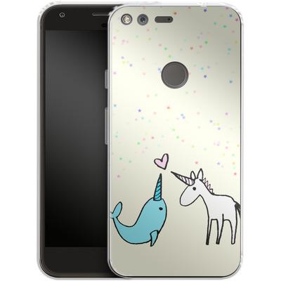 Google Pixel XL Silikon Handyhuelle - Two Horns von caseable Designs