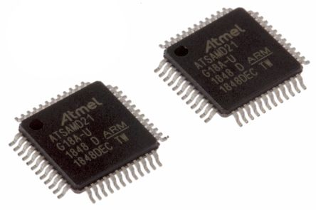 Microchip ATSAMD21G18A-AU, 32bit Microcontroller, ATSAMD, 48MHz, 256 kB Flash, 48-Pin TQFP (2)