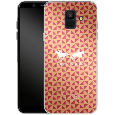 Samsung Galaxy A6 Silikon Handyhuelle - Triangle Silhouette von Ingrid Klimke