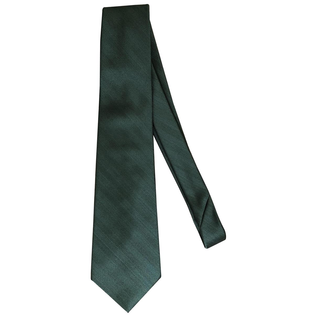 Balenciaga \N Krawatten in  Gruen Seide