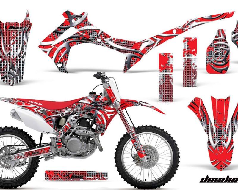 AMR Racing Dirt Bike Graphics Kit Decal Sticker Wrap For Honda CRF450R 2013-2016áDEADEN RED
