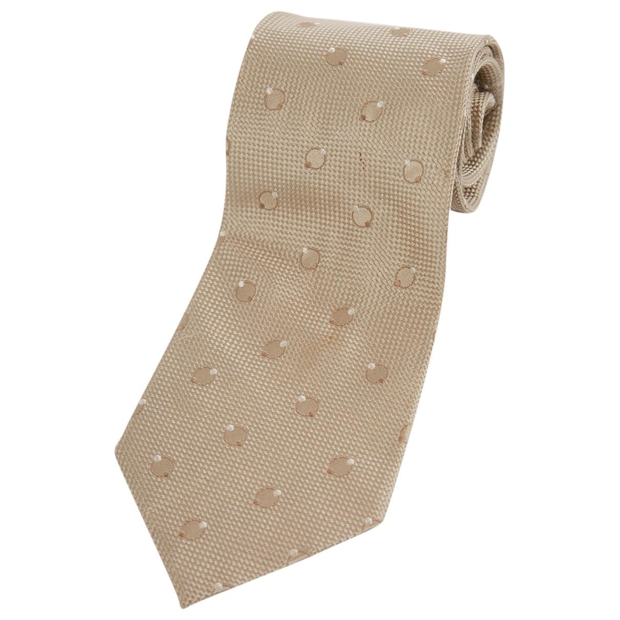 Armani Collezioni \N Krawatten in  Beige Seide