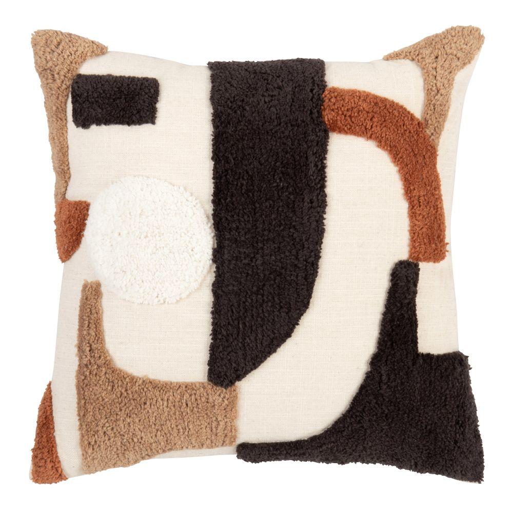 Kissenbezug aus Baumwolle, braun, beige und schwarz, 40x40
