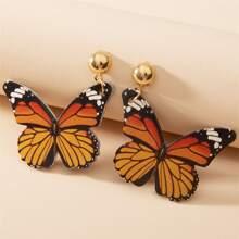 Ohrringe mit Schmetterling Dekor