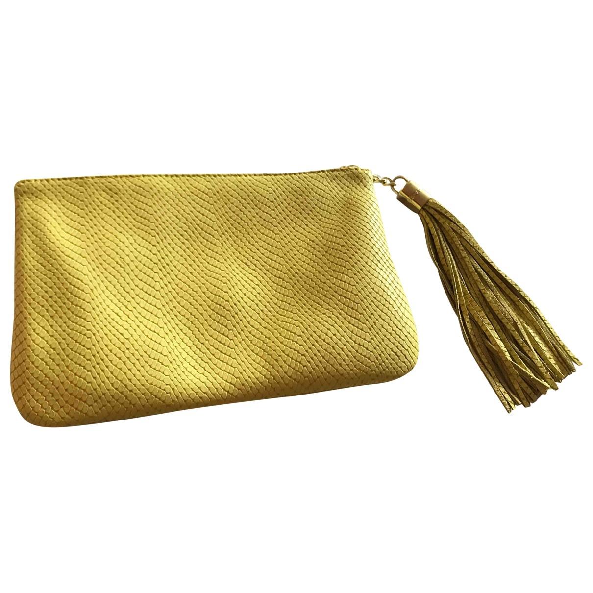 Escada - Petite maroquinerie   pour femme en cuir - jaune