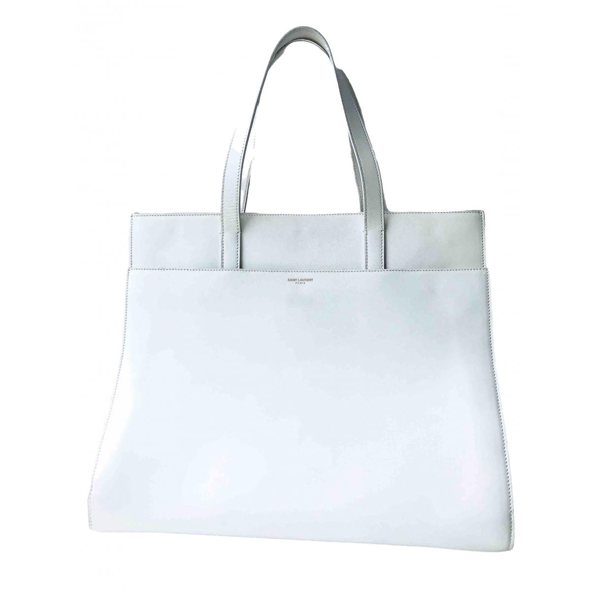 Saint Laurent \N White Leather handbag for Women \N