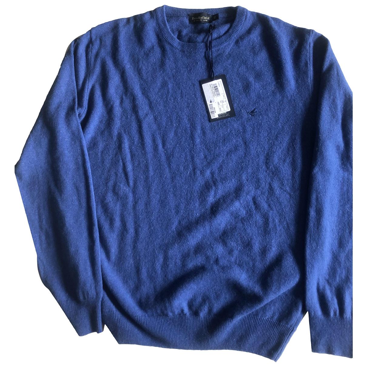 Brooksfield \N Pullover.Westen.Sweatshirts  in  Blau Wolle