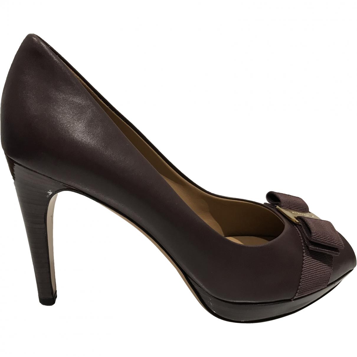 Salvatore Ferragamo \N Leather Heels for Women 39.5 EU