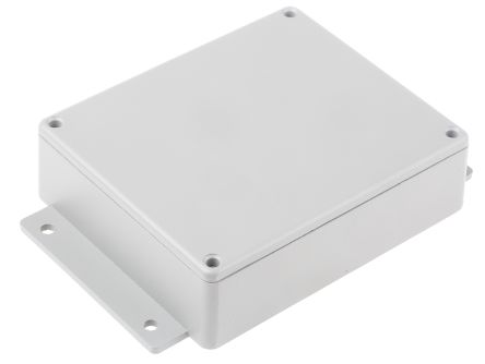 RS PRO Grey Die Cast Aluminium Enclosure, IP66, Shielded, Flanged, 149.8 x 100.2 x 35.6mm