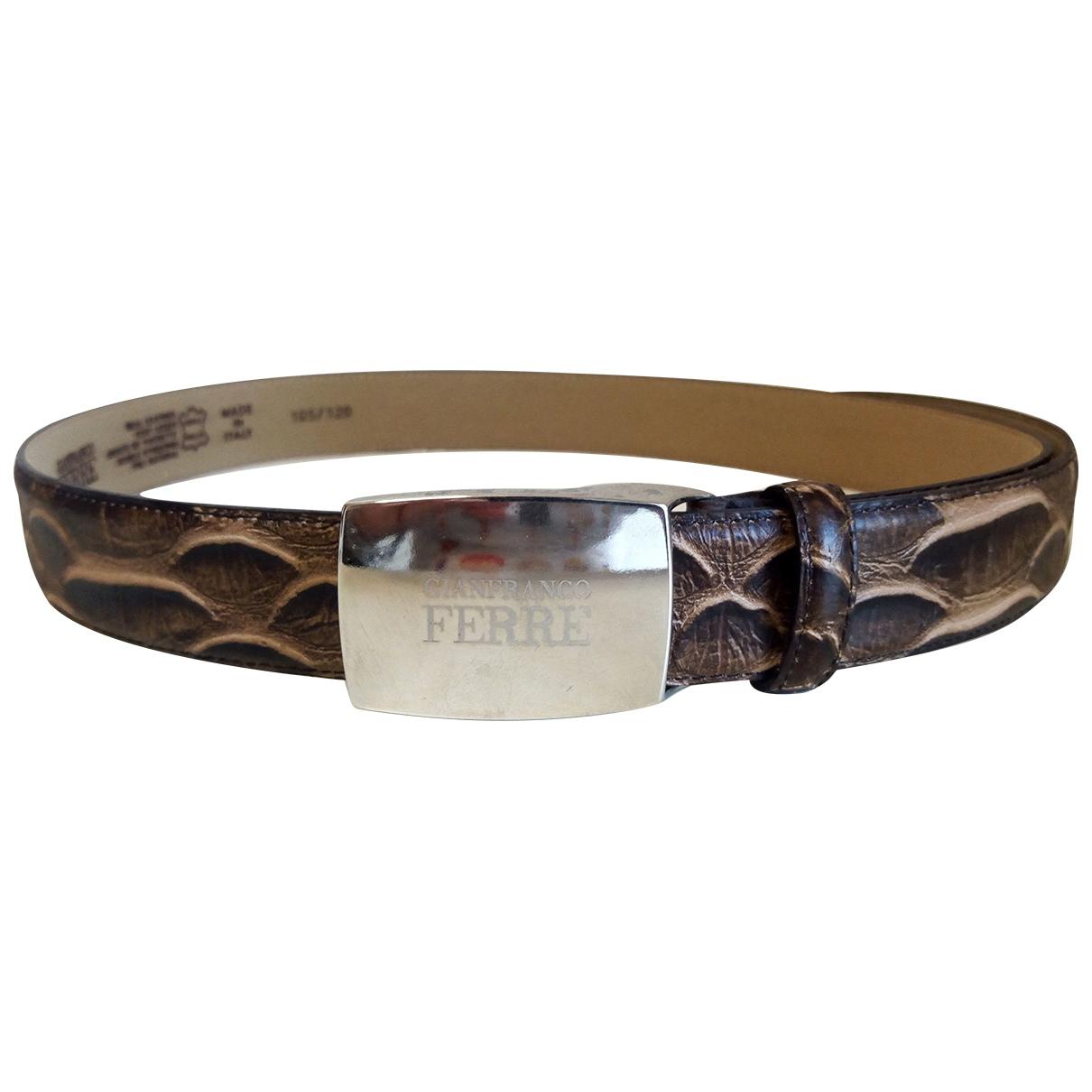 Gianfranco Ferré \N Brown Python belt for Men M international