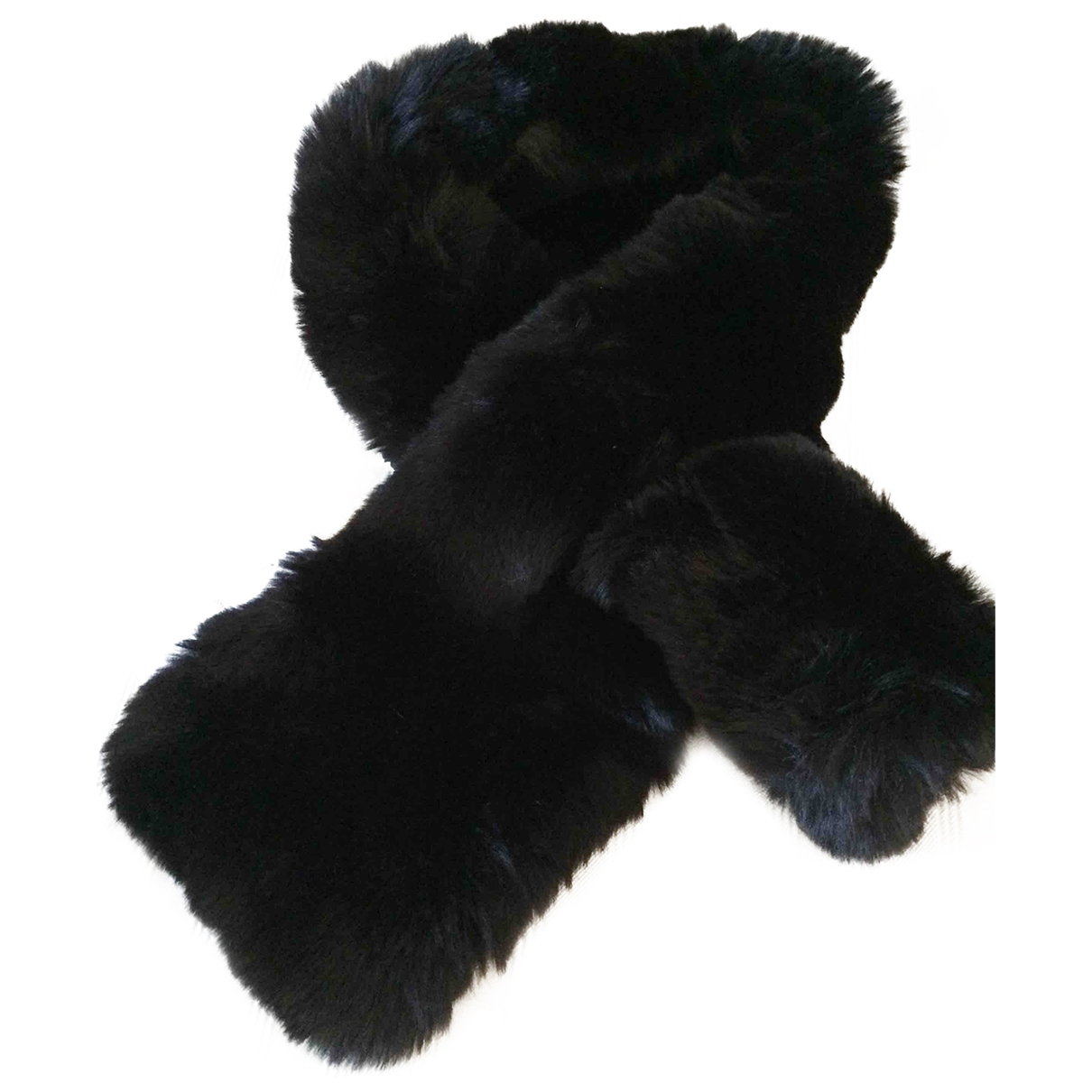 Non Signé / Unsigned \N Black scarf for Women \N