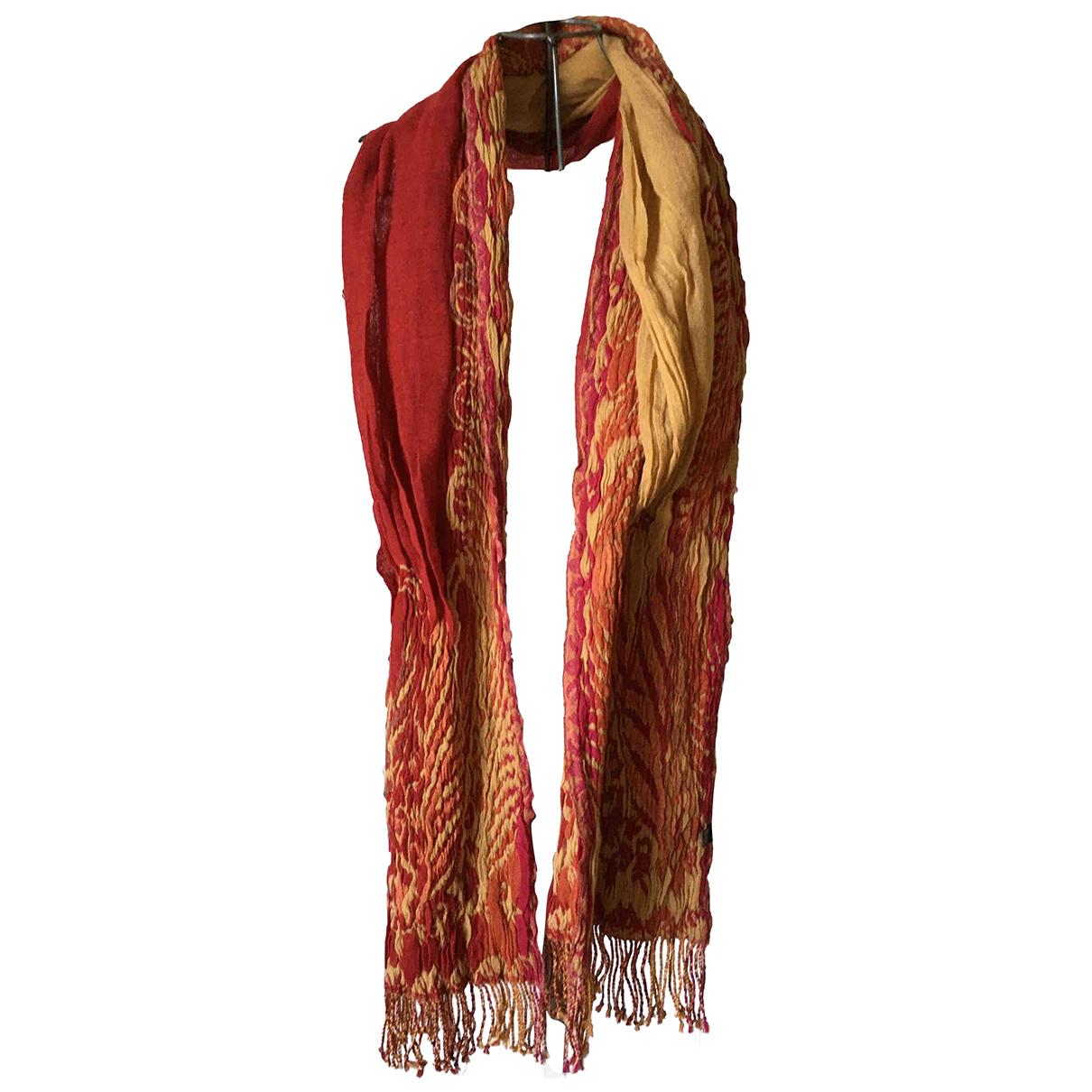 Unknown - Carre   pour femme en laine - rouge