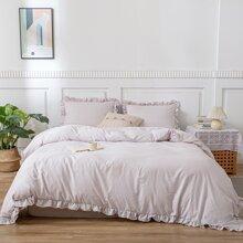 Set de cama ribete fruncido sin relleno