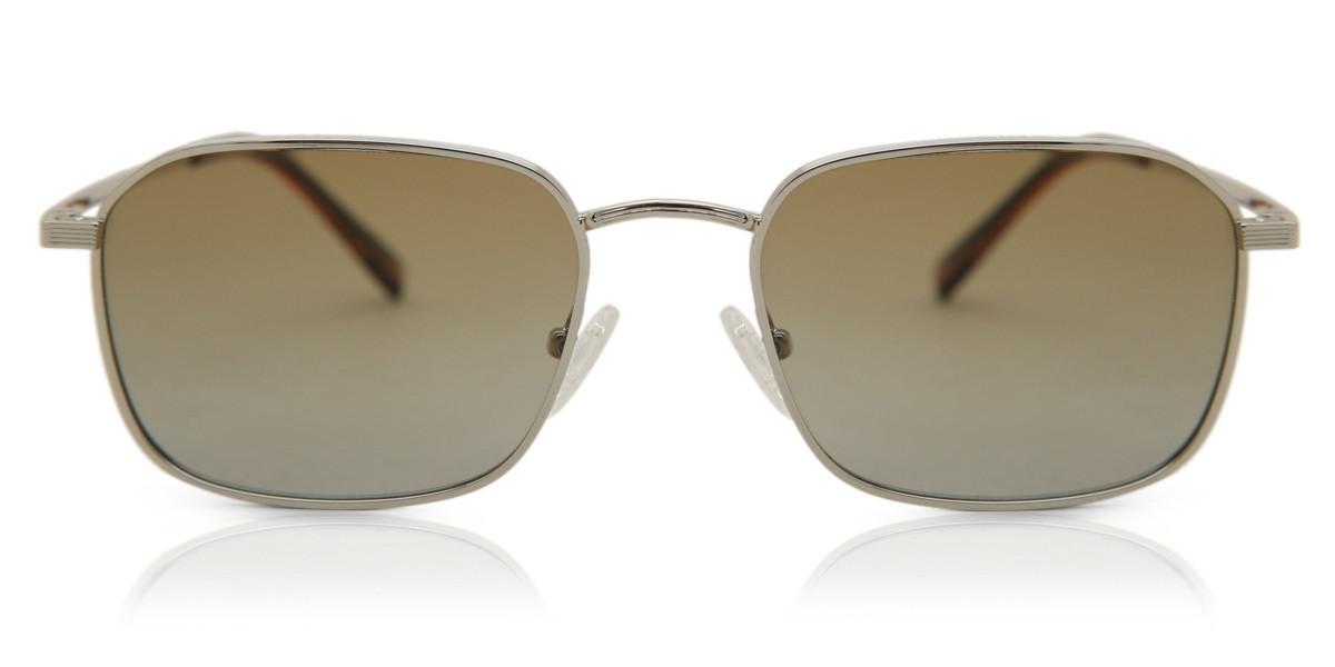 Square Full Rim Metal Men's Sunglasses Gold Size 53 - Free Lenses - HSA/FSA Insurance - Arise Collective