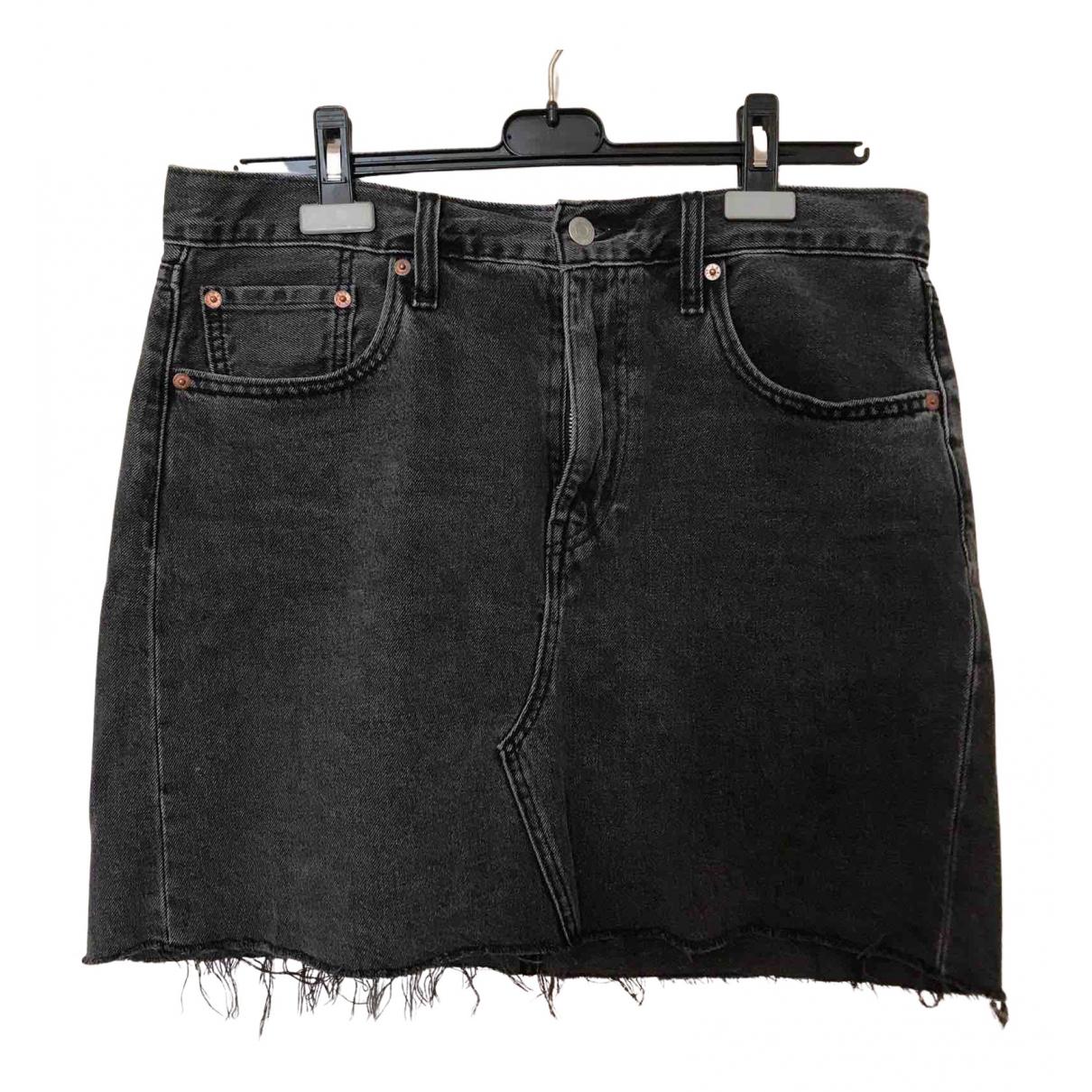 Levis \N Rocke in  Schwarz Denim - Jeans