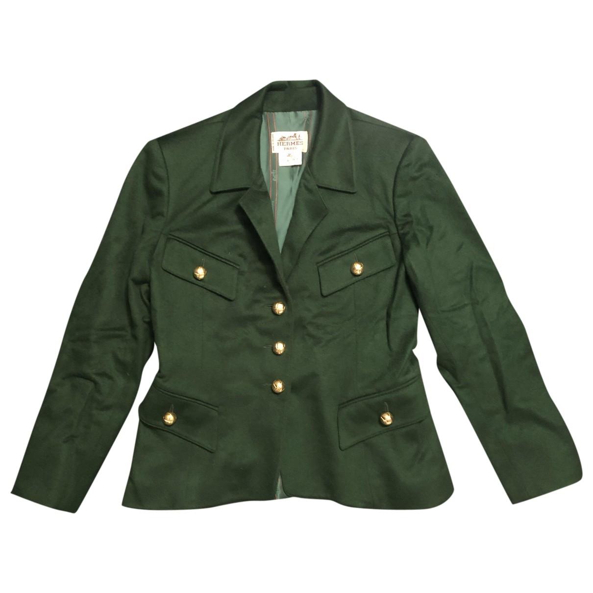 Hermès \N Green Wool jacket for Women 40 FR